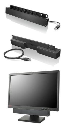 Lenovo USB Soundbar Black 2.0 channels 2.5 W