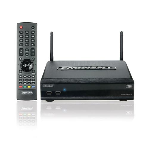 Eminent EM7385 digitale mediaspeler Zwart Full HD Wifi