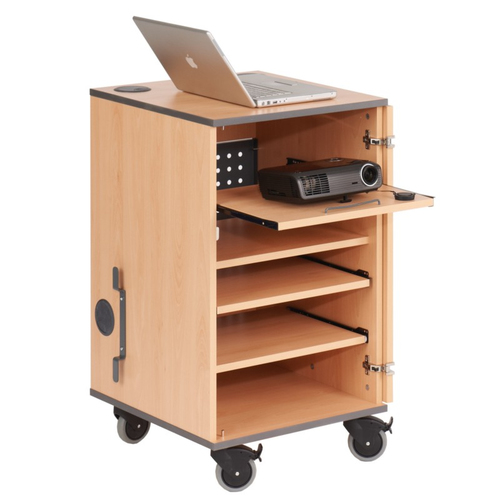 Metroplan MM90 Portable device management cabinet Green,Wood