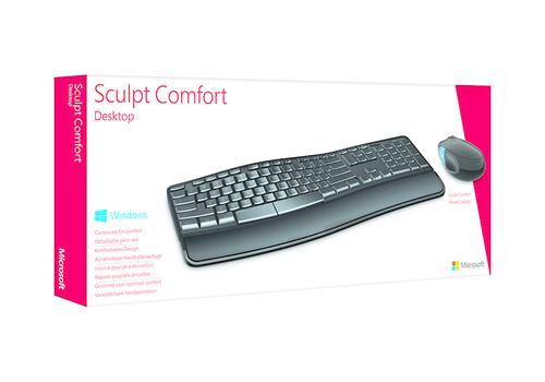 Microsoft Sculpt Comfort Desktop RF Draadloos QWERTY Zwart toetsenbord