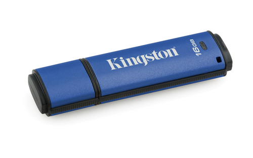 Kingston Technology DataTraveler Vault Privacy 3.0 16GB 16GB USB 3.0 (3.1 Gen 1) Type-A Blue USB flash drive
