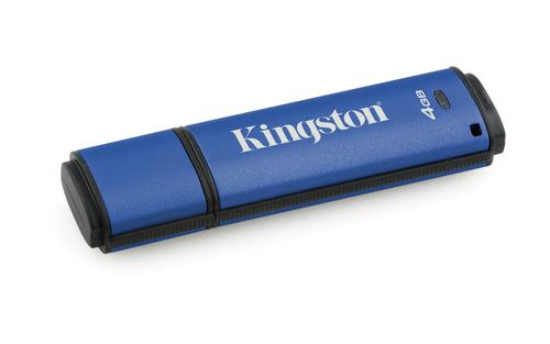 Kingston Technology DataTraveler Vault Privacy 3.0 4GB 4GB USB 3.0 (3.1 Gen 1) Type-A Blue USB flash drive