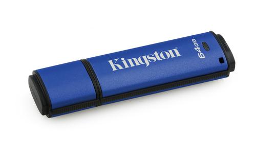 Kingston Technology DataTraveler Vault Privacy 3.0 64GB 64GB USB 3.0 (3.1 Gen 1) Type-A Blue USB flash drive