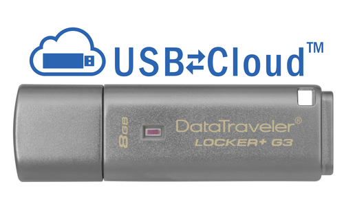 Kingston Technology DataTraveler Locker+ G3 8GB 8GB USB 3.0 (3.1 Gen 1) Type-A Silver USB flash drive