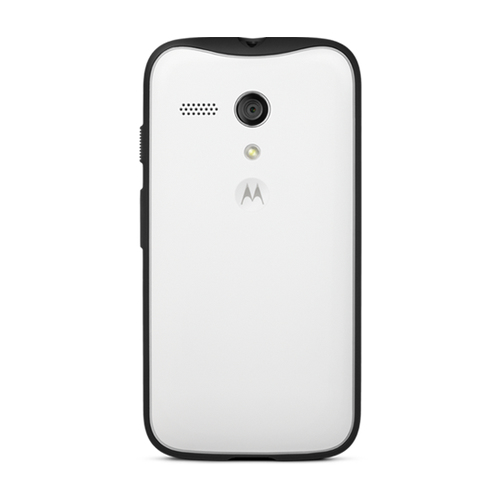 "Motorola ASMACTDRWT-MLTI0 mobiele telefoon behuizingen 11,4 cm (4.5"") Hoes Zwart, Wit"