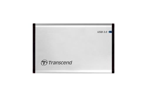 "Transcend StoreJet 25S3 HDD-/SSD-behuizing Zilver 2.5"" Stroomvoorziening via USB"