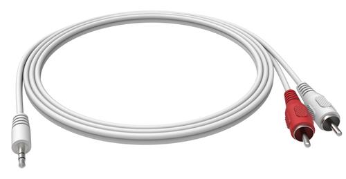 Vision 3.5mm - 2 RCA, 2m audio kabel 2 x RCA Wit