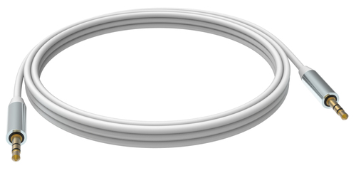 Vision 2 x 3.5mm, 2m 2m 3.5mm 3.5mm White audio cable
