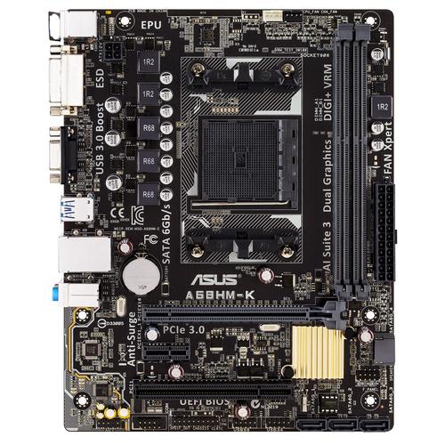 ASUS A68HM-K moederbord Socket FM2+ Micro ATX AMD A68