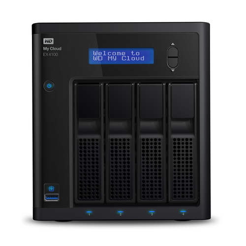 Western Digital My Cloud EX4100 NAS Desktop Ethernet LAN Zwart