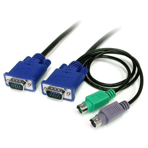 StarTech.com 1,80 m Ultradun 3-in-1 PS/2 KVM-kabel