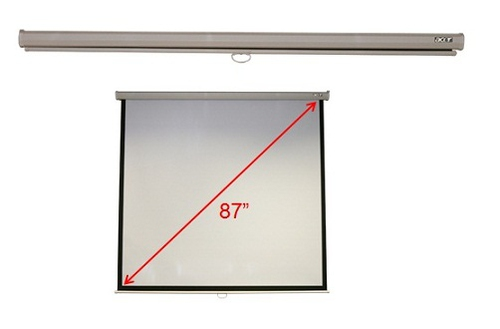 """Acer M87-S01MW 87"""" 1:1 White projection screen"""