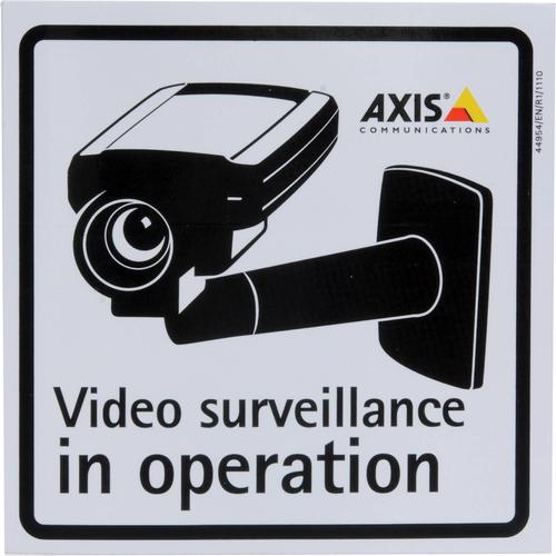 Axis Surveillance Stickers (10-Pack) sticker Zwart, Grijs