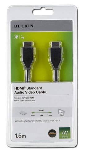 Belkin HDMI 1.4 1.5m 1.5m HDMI HDMI Zwart HDMI kabel