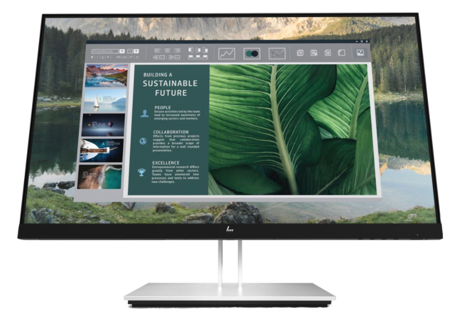 HP EliteDisplay E24u G4 FHD USB-C Monitor - Zwart,Zilver Productcode: 189T0AA#ABB